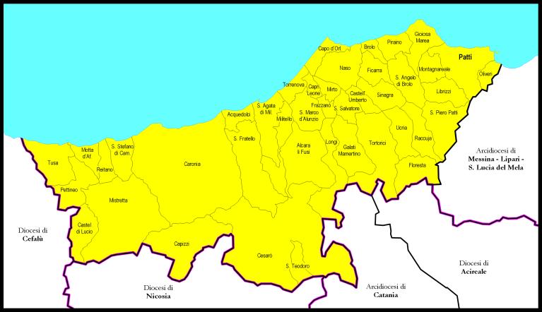 Mappa Diocesi di Patti